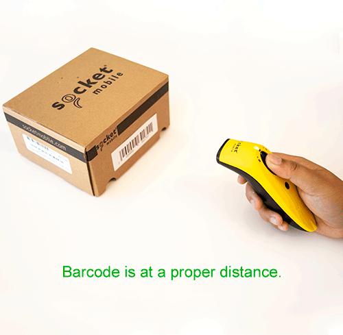 Barcode at a proper distance