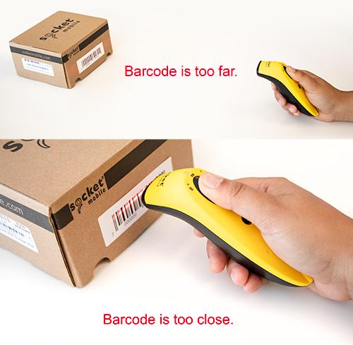 barcode too far or too close